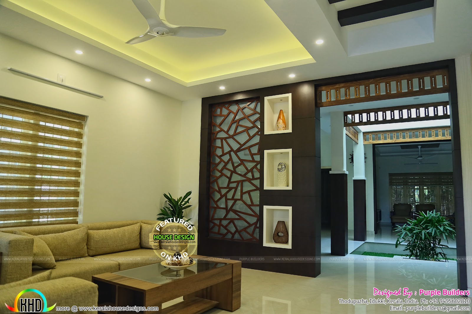Front Elevation Designs For Ground Floor : Completed home and interior bedroom kerala design