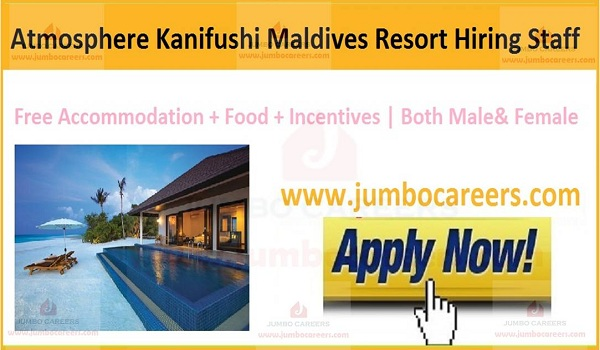 Maldive jobs with accommodation,