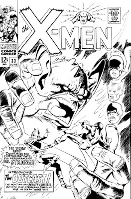 X-Men #33, original cover by Gil Kane