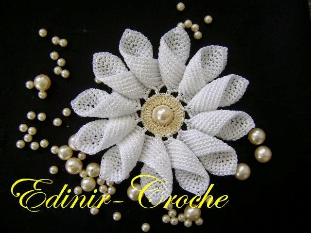 Flores em Croche Margarida Rainha Edinir Croche Youtube Curso de Croche  Facebook