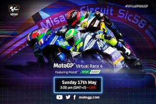 Resultado Carrera Virtual de MotoE Misano 17-5-2020