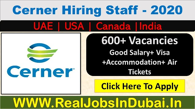 Cerner Careers Jobs In UAE, India, US & Canada.