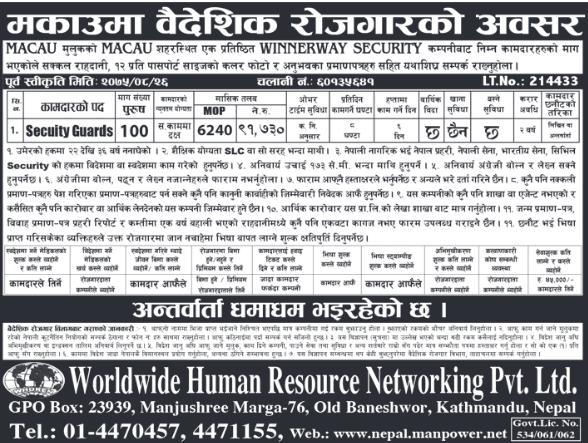 Worldwide Human Resource Networking jagiredai