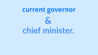 current governor and CM list.