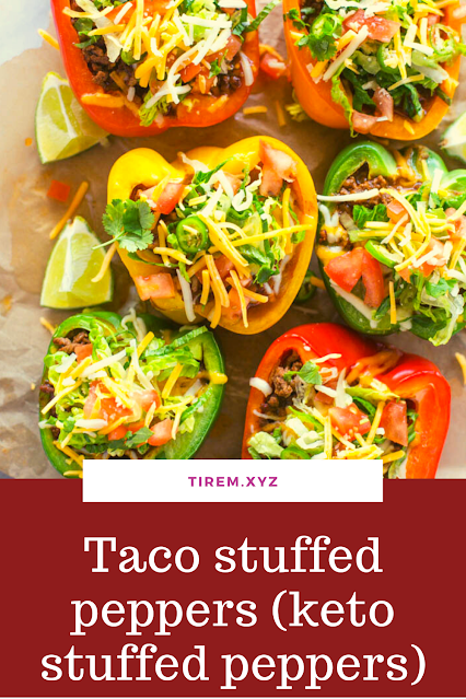 Taco stuffed peppers (keto stuffed peppers)