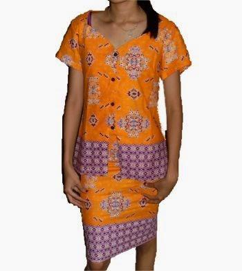 model baju batik kantor wanita 2015