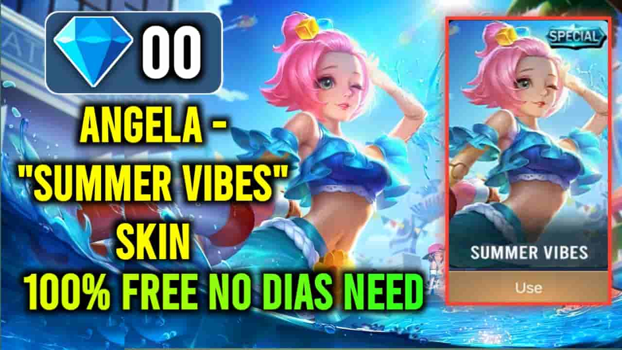 angela summer vibes skin, how to get angela special skin for free, angela summer vibes skin script no password