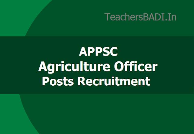 APPSC Agriculture Officer posts