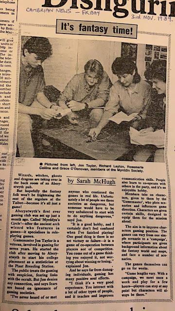 Myrddin's Circle newspaper cutting