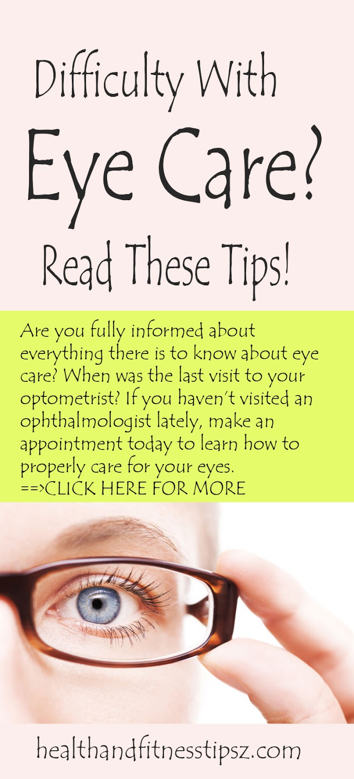 EASY EYE HEALTH TIPS