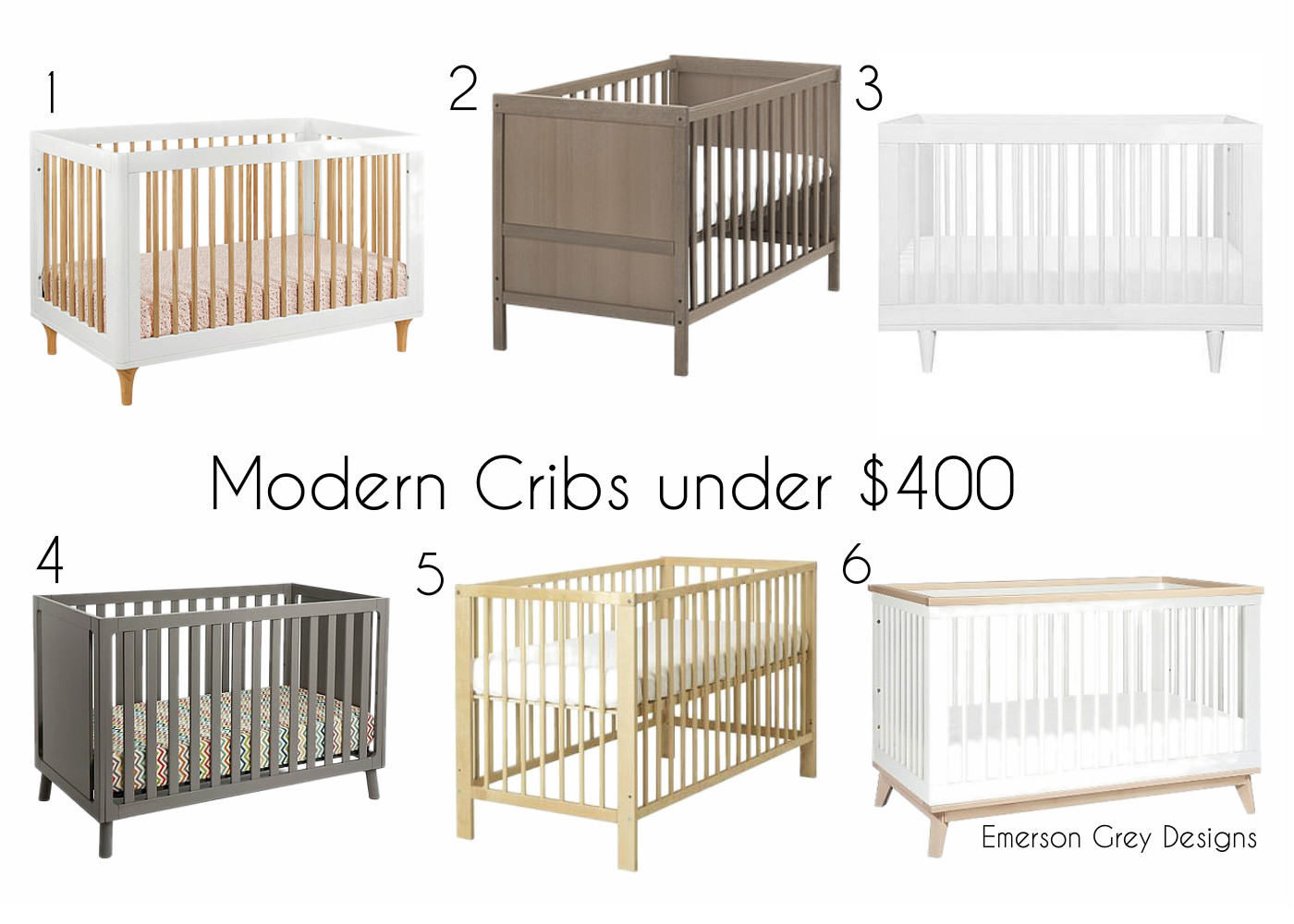 Not cheap in design Modern Crib Roundup