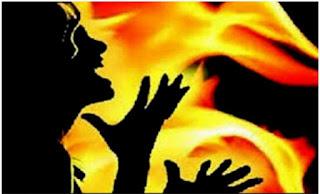 মাধবপুরে আগুনে পুড়ে নারীর মৃত্যু স্বামী আটক