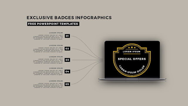 Infographic Badges Free PowerPoint Template for Special Offers Slide 6