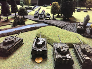 The Shermans are destroyed by the Tigers