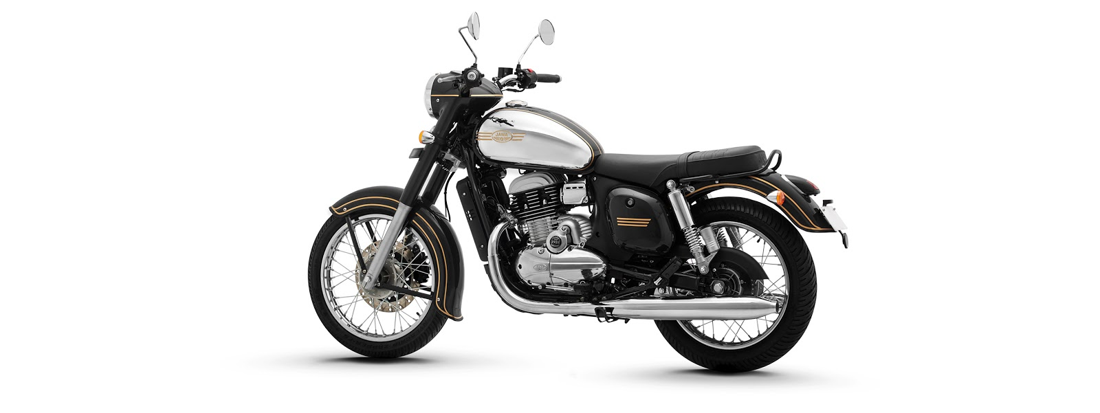 Jawa motorcycle is available in three colors - Jawa Black