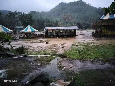 Banjir Terjang Argabinta Cianjur, Saat Ini Listrik Dalam Kondisi Padam