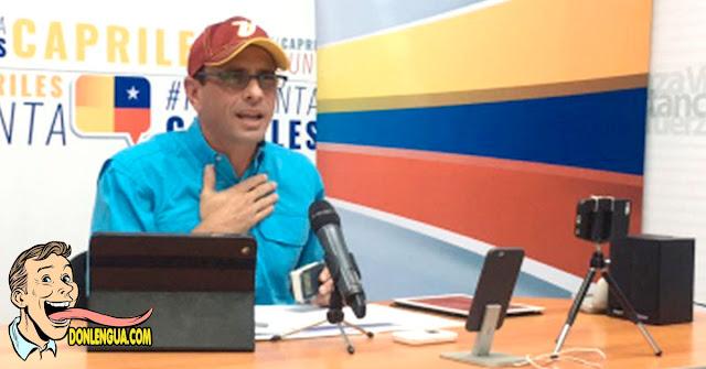 Capriles quiere que la oposición cohabite con los asesinos del Régimen en un gobierno