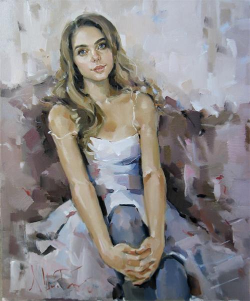 портрет маслом, портрет девушки