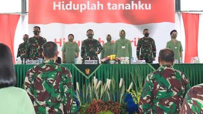 Pangdam I/BB Beri Pengarahan Kepada Prajurit dan Persit Korem 033/Wira Pratama