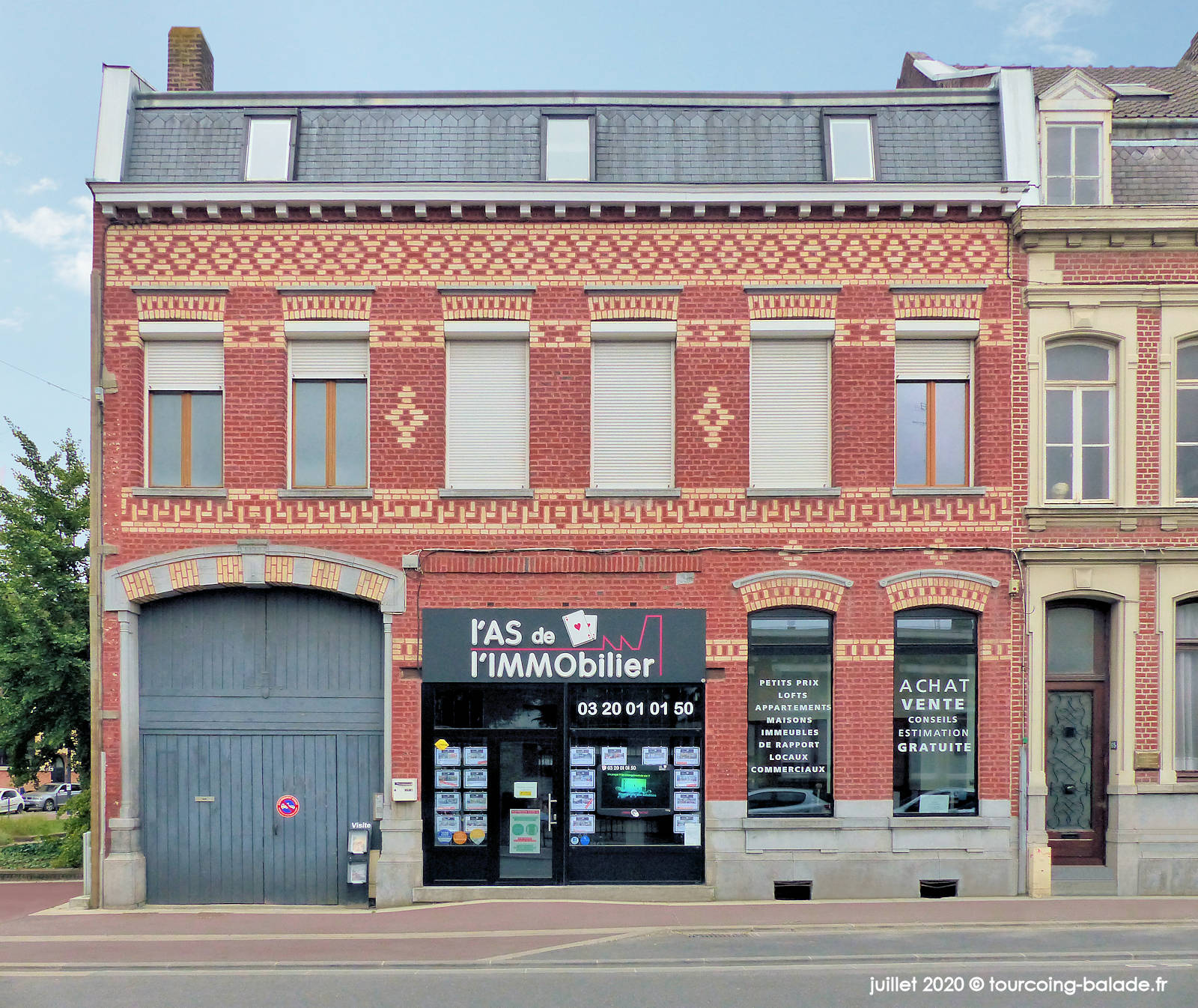 Immeuble 63 rue Nationale, Tourcoing 2020