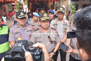 Patroli Pengamanan Perayaan Imlek, Kapolda Jambi Imbau Masyarakat Jaga Toleransi Antar Umat Beragama