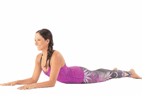 SPHINX POSE to  leave back pain