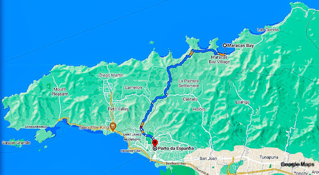 Estrada para Maracas Bay, Trinidad e Tobago