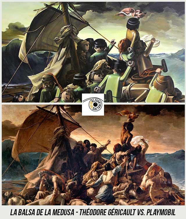 Cuadro-La-balsa-de-la-Medusa-de-Théodore-Géricault-Hecho-con-Playmobil