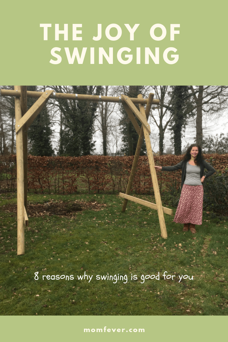 The joy of swinging on a swing