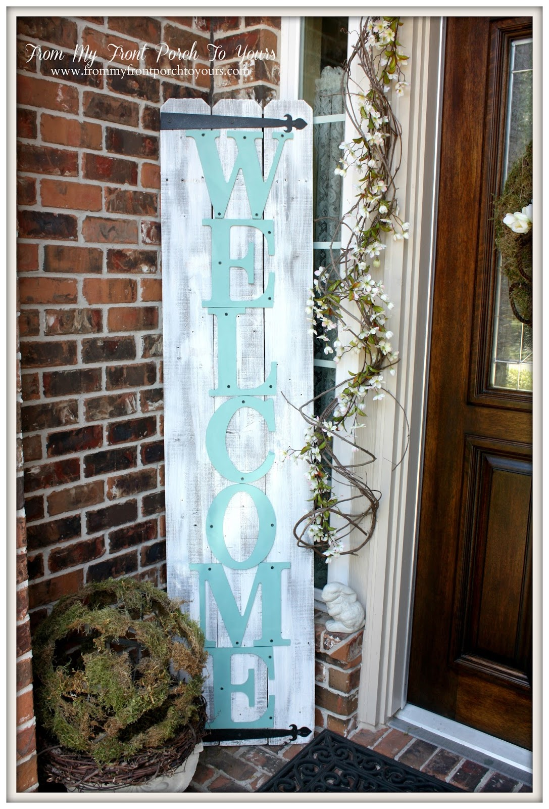 Welcome Sign-How I Found My Style Sundays- From My Front Porch To Yours