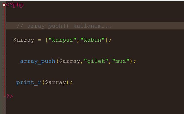 php diziye sonradan eleman ekleme