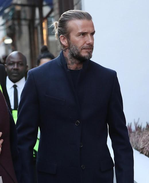 David Beckham Bun Styles