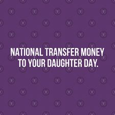 National Transfer Money to Your Daughter Day Wishes Images download
