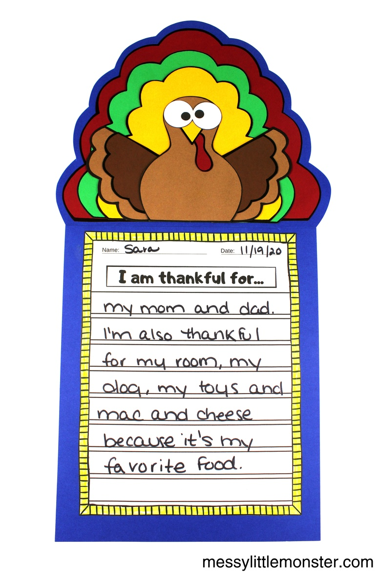 I am thankful for printable