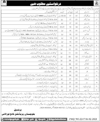 Balochistan Residential College Loralai for Doctor Jobs in Pakistan 17/02/2021 Latest