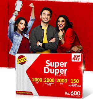 jazz monthly super duper card Offer Package 2020