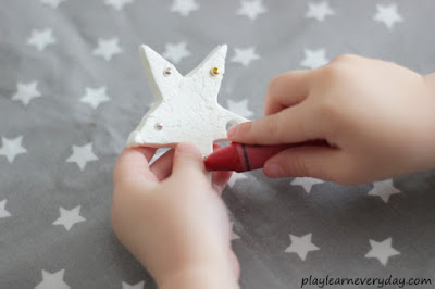 colouring clay stars