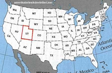 Utah dünyanin neresinde. Dünya haritasinda UTAH