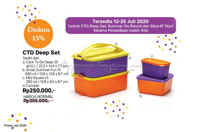Lunch box, Lunch Set, Promo Tupperware Juli 2020, tempat aneka snack, Tempat Makan/bekal