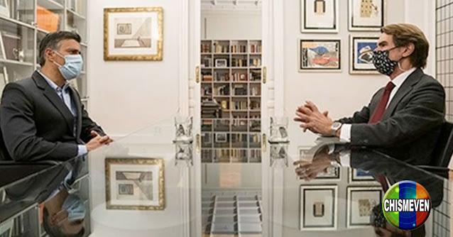 Leopoldo López se reunió con José María Aznar para hablar de cualquier cosa