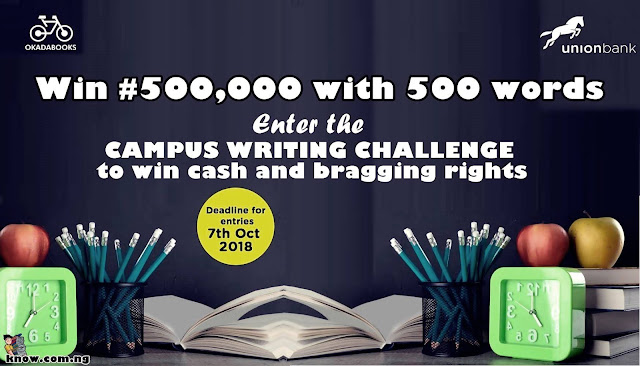 Campus Writing Challenge By Okadabooks And Union Bank