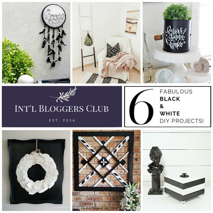 Int'l Bloggers Club Black and White DIY Challenge