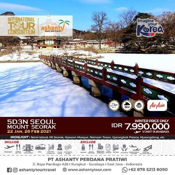 tour korea murah dari surabaya 2021