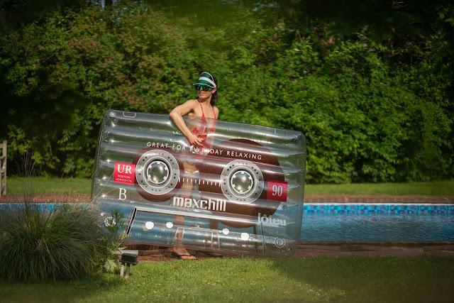 rock and roll pool float, Meryl Franzos