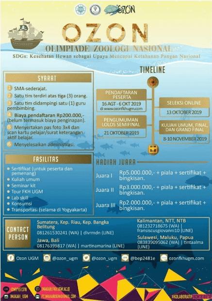 Olimpiade Zoologi Nasional (OZON) UGM 2019 SMA Sederajat