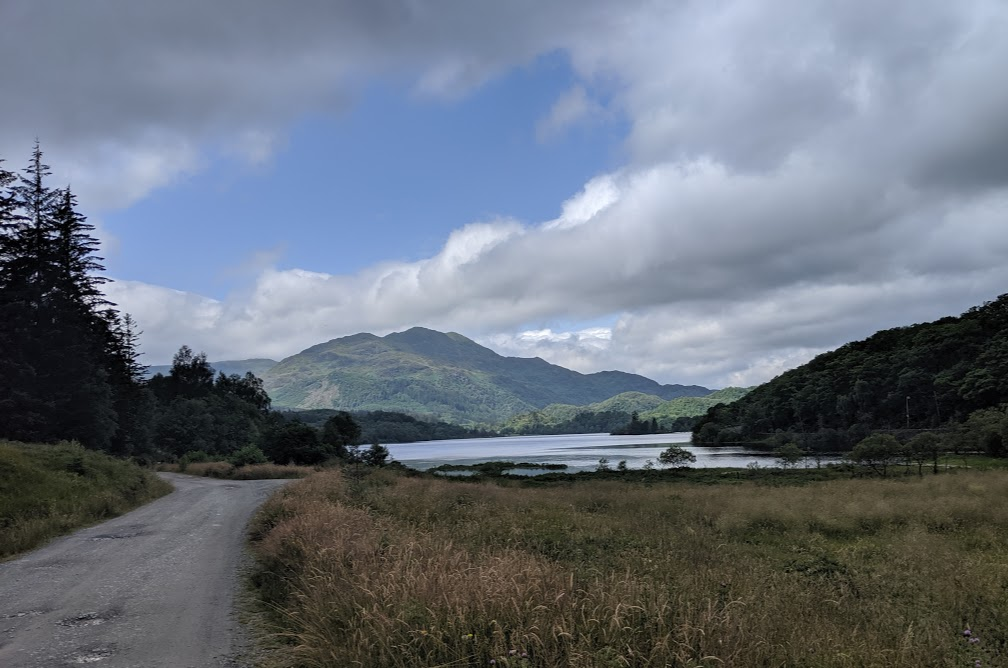 The Three Lochs Forest Drive - A Good Spot for Wild Camping with Kids  - view of the mountains