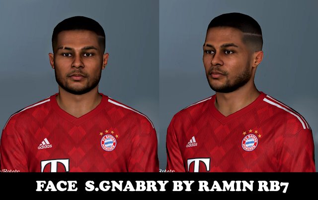 Gnabry PES 2017 Face by Ramin RB7