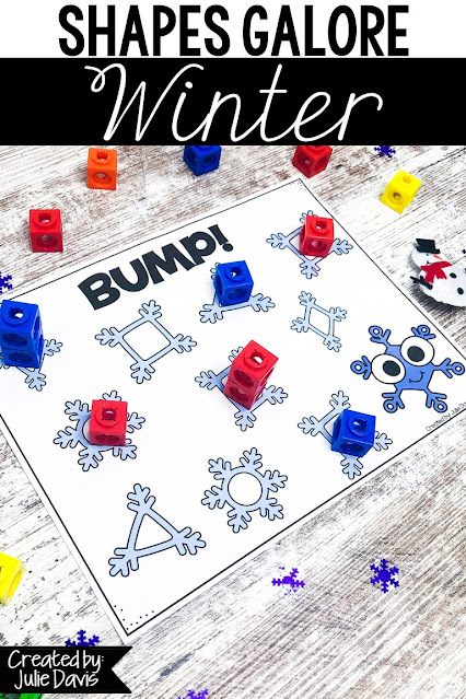 This Winter 2D Shape unit is filled with fun & engaging activities & worksheets that will teach your students to identify & recognize basic shapes! Great for math centers, independent & partner practice! Can be used as morning tubs or early finisher bins! Games included are Bump, BINGO, Dominoes, Count & Graph, Color by Code, Spin & Count, Clip Cards, Puzzle Cards, & more! These snow, penguin, polar bear, & snowman printables are great for Preschool, Pre-K, Kindergarten, & 1st Grade