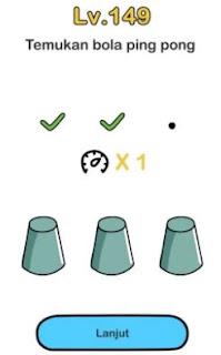 Jawaban Temukan Bola Ping Pong Brain Out