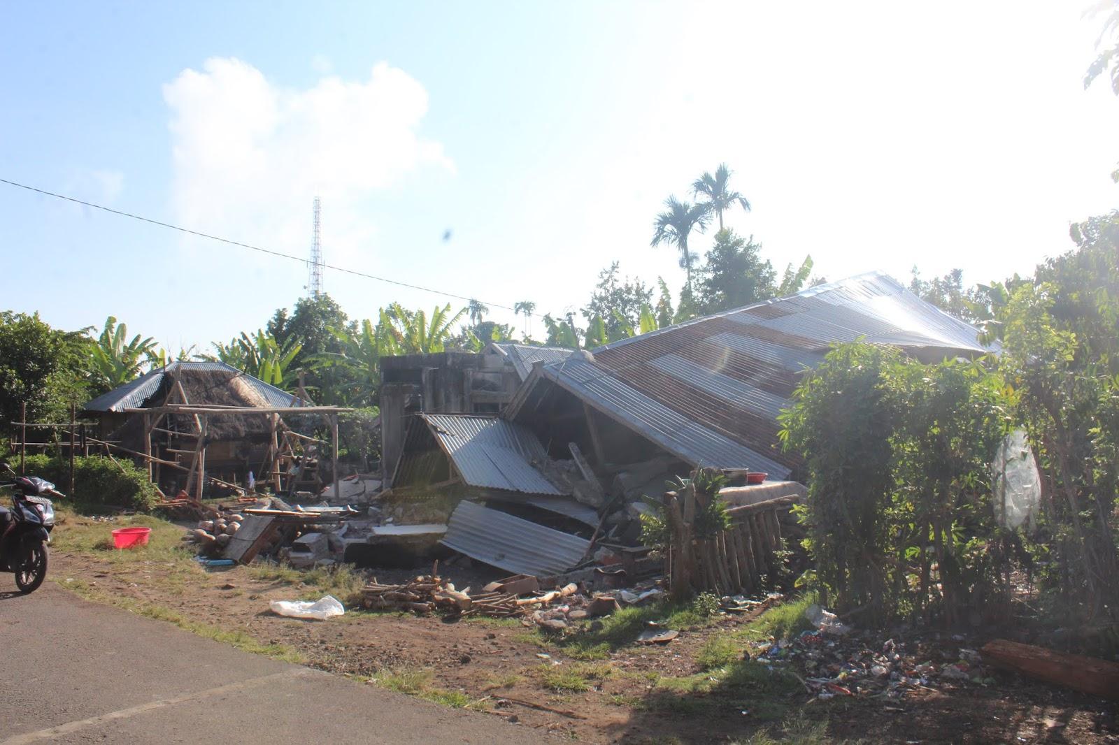 Berikut Poto Kerusakan Bangunan Korban Gempa Bumi Sembalun Rumah Untuk Lombok Ini Alasan Pemerintah Tidak Menetapkan Sebagai Bencana Nasional